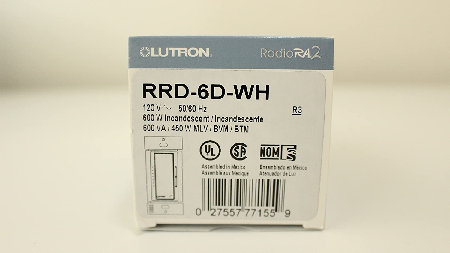 81JPQLoku%2BL._SL1500_ lutron rrd 6d wh ra2 600w dimmer wall dimmer switches amazon com Lutron RRD at gsmx.co