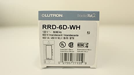 lutron rrd 6d wh ra2 600w dimmer wall dimmer switches amazon com rd-rd-wh at Rrd 6d Wiring Diagram