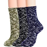 Jeasona Womens Wool Socks Warm Winter Vintage Boot Crew Socks