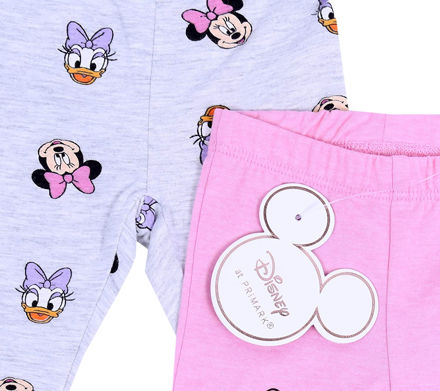 Pink Leggings for Baby Girls Minnie Mouse /& Daisy Duck Disney 2 x Grey