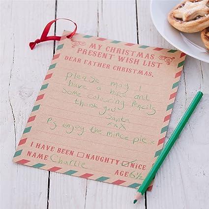 Carta a Papá Noel lista de deseos: Amazon.es: Hogar