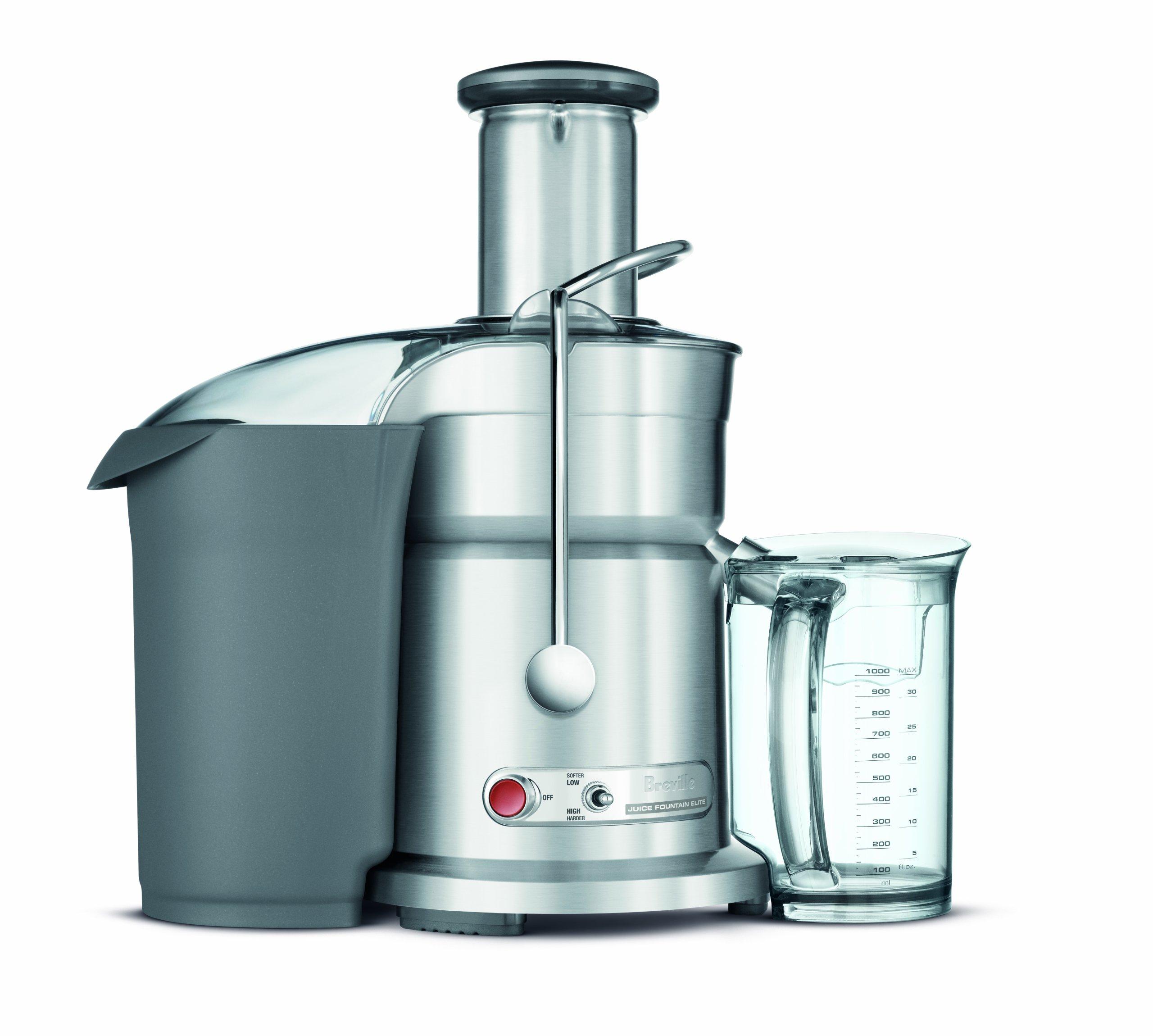 Breville RM-800JEXL Die-Cast Juice Fountain Elite 1000-Watt Juice Extractor (Certified Refurbished)
