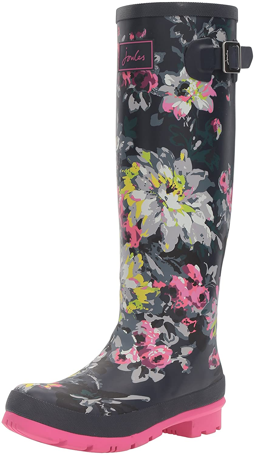 Joules Women's Welly Print Rain Boot B01F00CTT4 5 B(M) US|French Navy/Floral