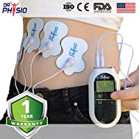 Dr Physio Electrical Nerve Stimulation Pulse Massager Digital Massage Machine for Body (White)