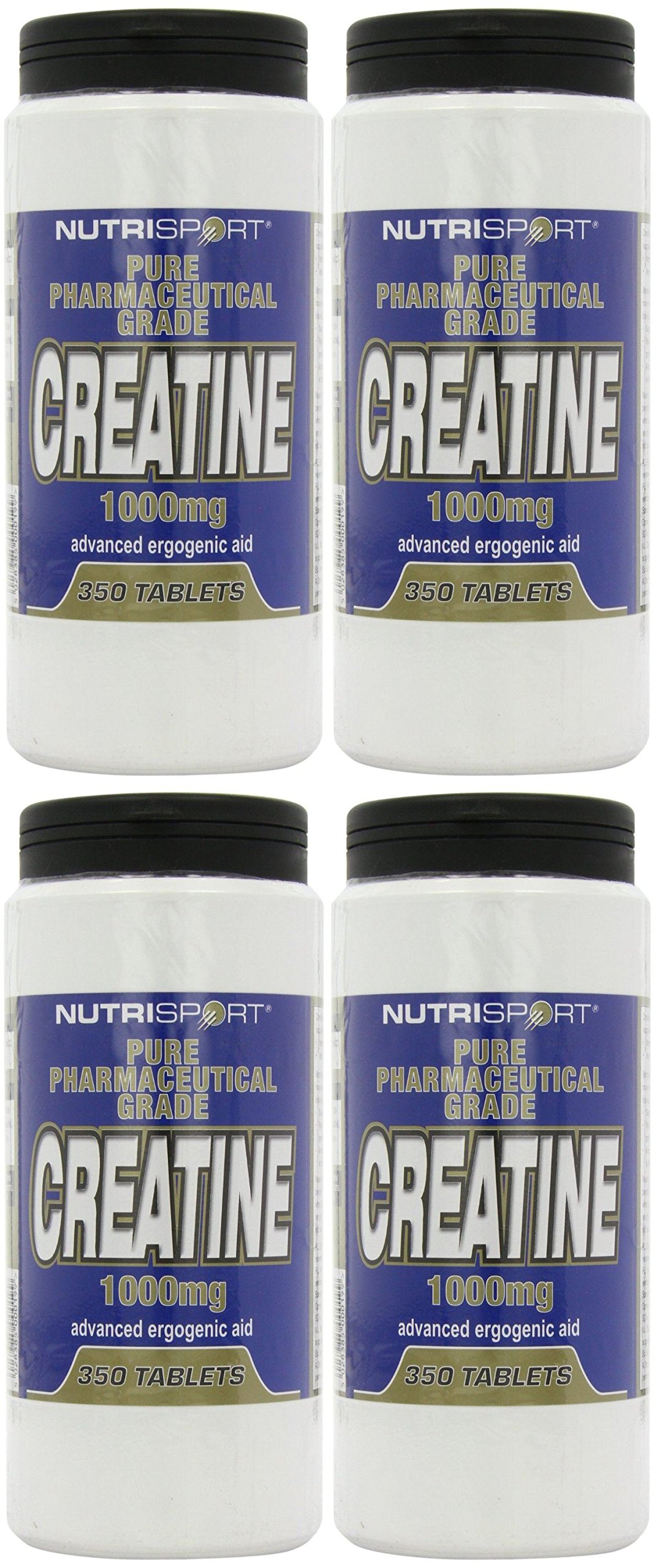 (4 PACK) - Nutrisport Creatine 1000Mg Tablets - Unflavoured | 350s | 4 PACK - SUPER SAVER - SAVE MONEY