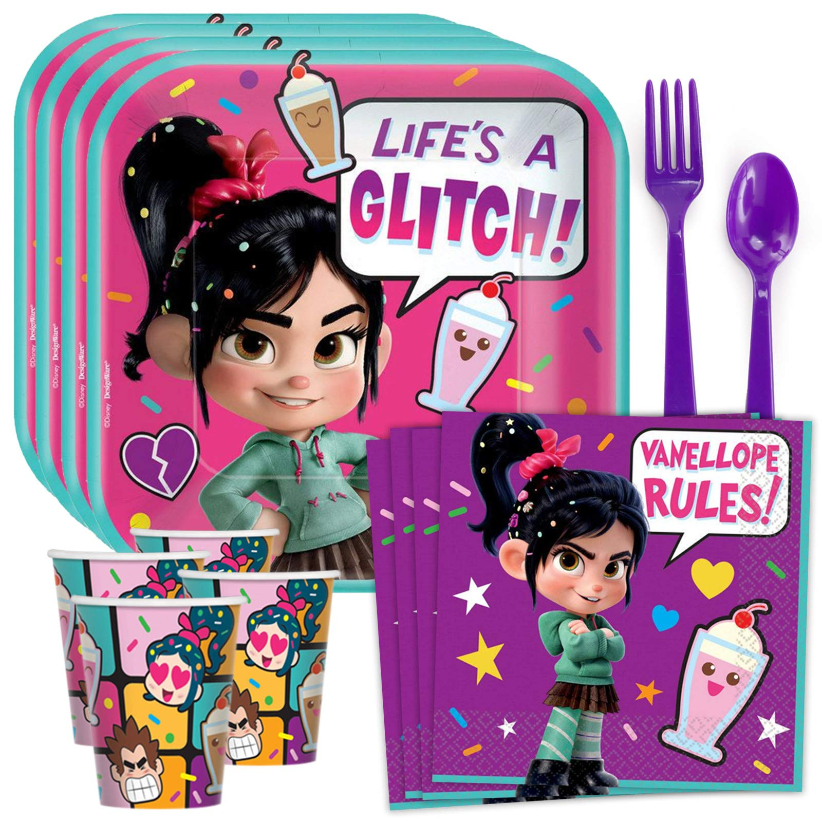 Disney Wreck It Ralph 2 Stickers 24 Count Amscan