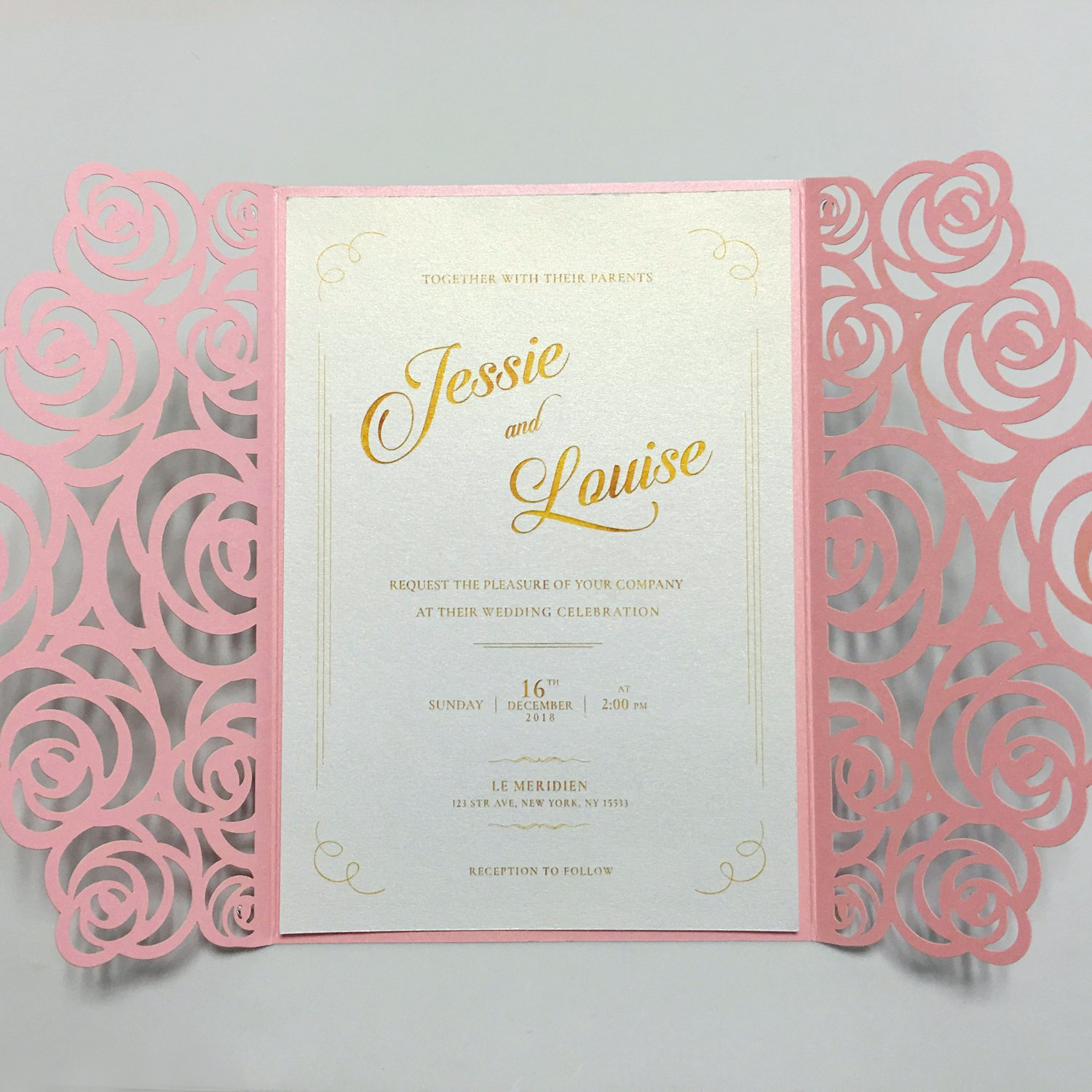 Amazon Com Picky Bride Bridal Shower Invites Laser Cut Rose