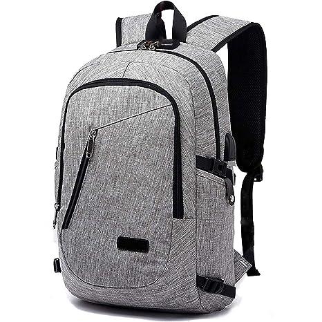 Amazon.com: FLYMEI mochila para laptop con puerto de carga ...