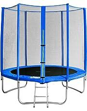 SixBros. SixJump Trampolino per Il Giardino - Scaletta - Rete di Sicurezza - Copertura Anti-Pioggia