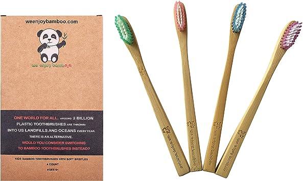 Cepillo de Dientes Madera de Bambú con Cerdas Suaves para Niños ...