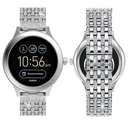 Amazon.com: Correa para reloj Fossil Q Venture con diamantes ...