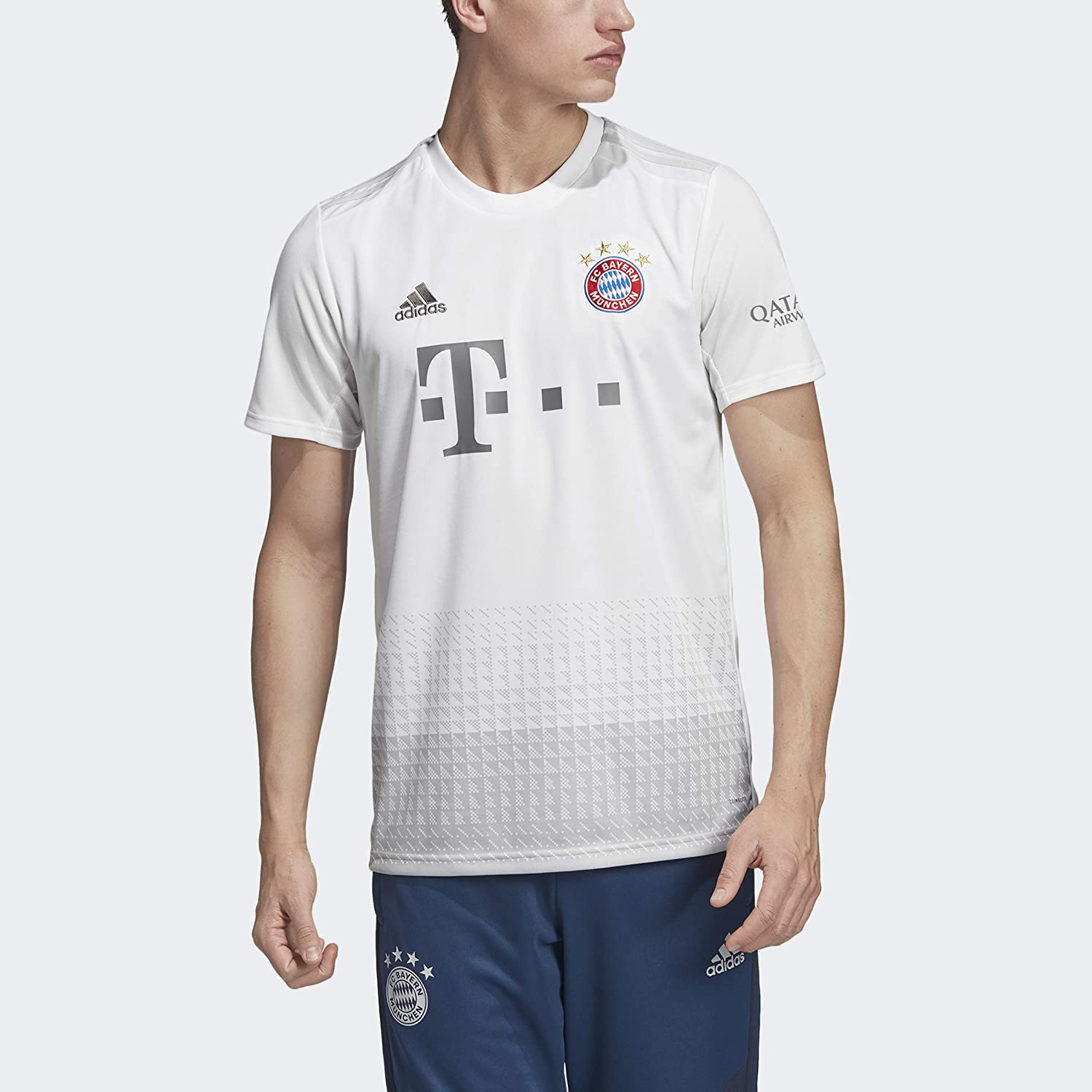 Amazon Com Adidas 2019 20 Fc Bayern Away Jersey White Grey M Clothing