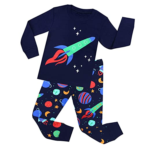d7a45117ea95e TinaLuLing Rockets Boys Pajamas 100 Cotton Rockets Pyjamas for Children  Kids Sleepwear for 2-8 Years