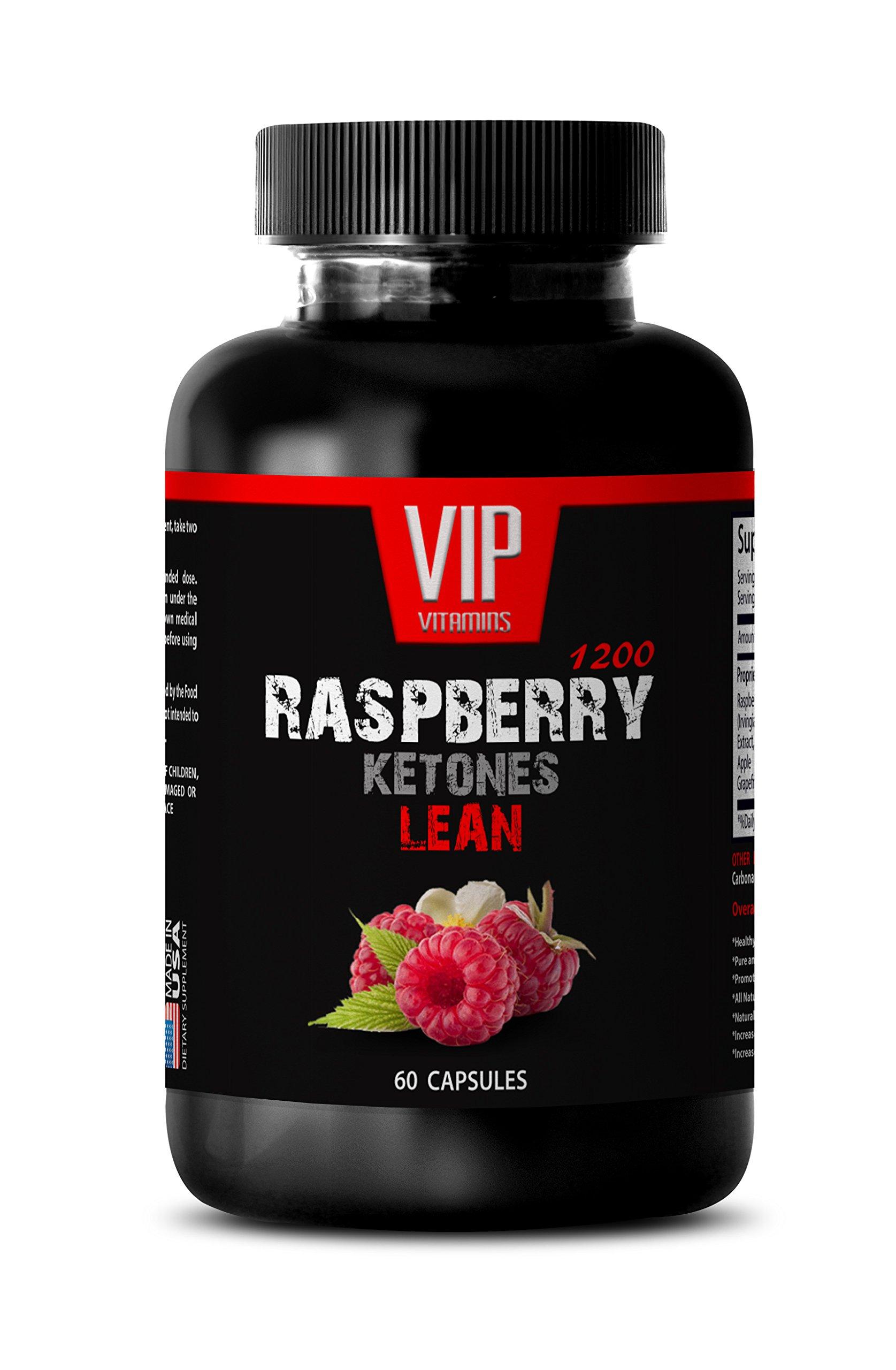 Weight loss supplements for women - RASPBERRY KETONES LEAN 1200 EXTRACT - Raspberry ketones green tea extract and african mango for weight loss - 1 Bottle 60 Capsules