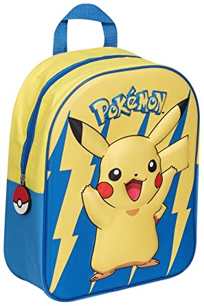 8e160f500824 OFFICIAL POKEMON EVA BACKPACK PIKACHU 3D SCHOOL RUCKSACK KIDS ZIP  ADJUSTABLE NEW