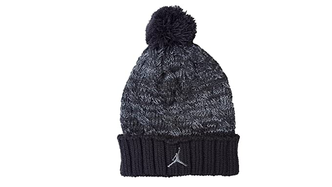 Amazon.com  Nike Jordan Jumpman Cable Pom Beanie Hat (8 20 b12f930e8501
