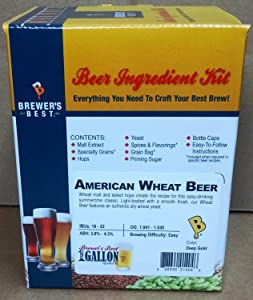 Brewer's Best One Gallon Home Brew Beer Ingredient Kit (American Wheat Beer)