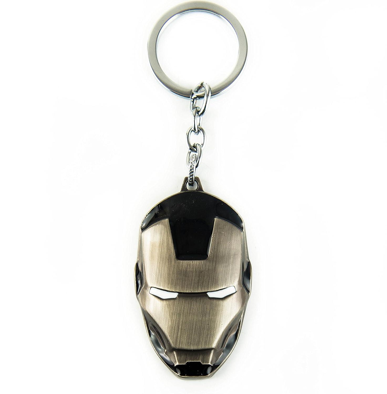 Lzy-store - Llavero de máscara de Warmachine (Máquina de guerra en Iron Man) - anilla de metal con cadena de eslabones, metal, Multicolor, negro: Amazon.es: ...