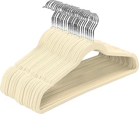Amazon Com Utopia Home Premium Non Slip Velvet Hangers Heavy Duty Coat Suit Hangers Ivory 50 Home Kitchen
