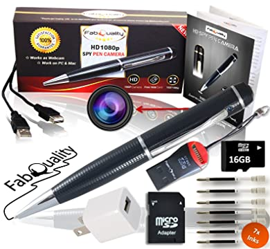 Premium Full 1080p HD Hidden Camera Spy Pen BUNDLE