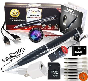 Amazon.com: Gadgets - Juego de bolígrafos para cámara oculta ...
