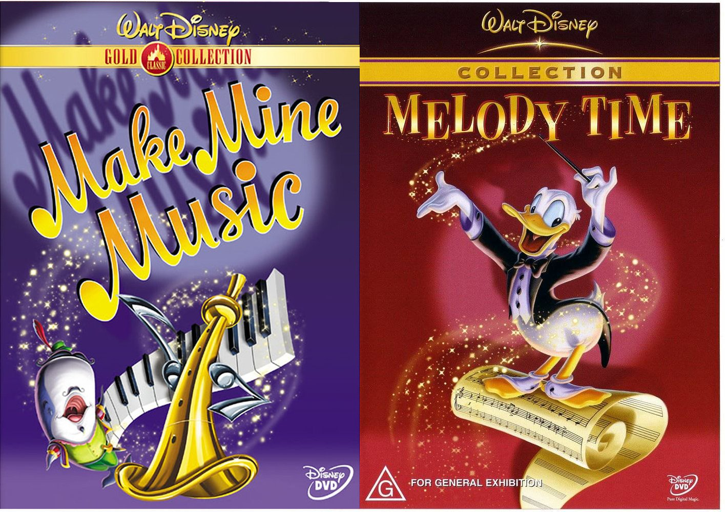 Amazon Com Disney S Musical Animation Collection Melody Time Shorts Make Mine Music Classic Stories 2 Pack Alan Young June Foray Joan Gerber Rip Taylor Russi Taylor Bob Hathcock Movies Tv