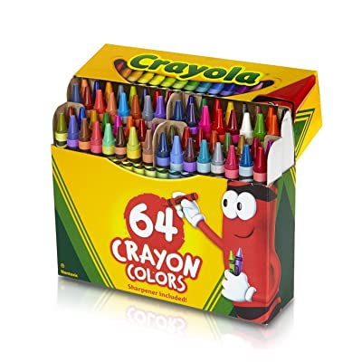 ... Crayola 52-0064 Crayons Assorted Colors 64 Count: Toys & Games