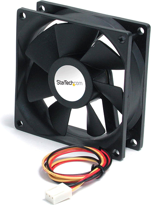 StarTech.com 60x20mm Replacement Ball Bearing Computer Case Fan w/ TX3 Connector - 3 pin case Fan - TX3 Fan - 60mm Fan (FAN6X2TX3), Black