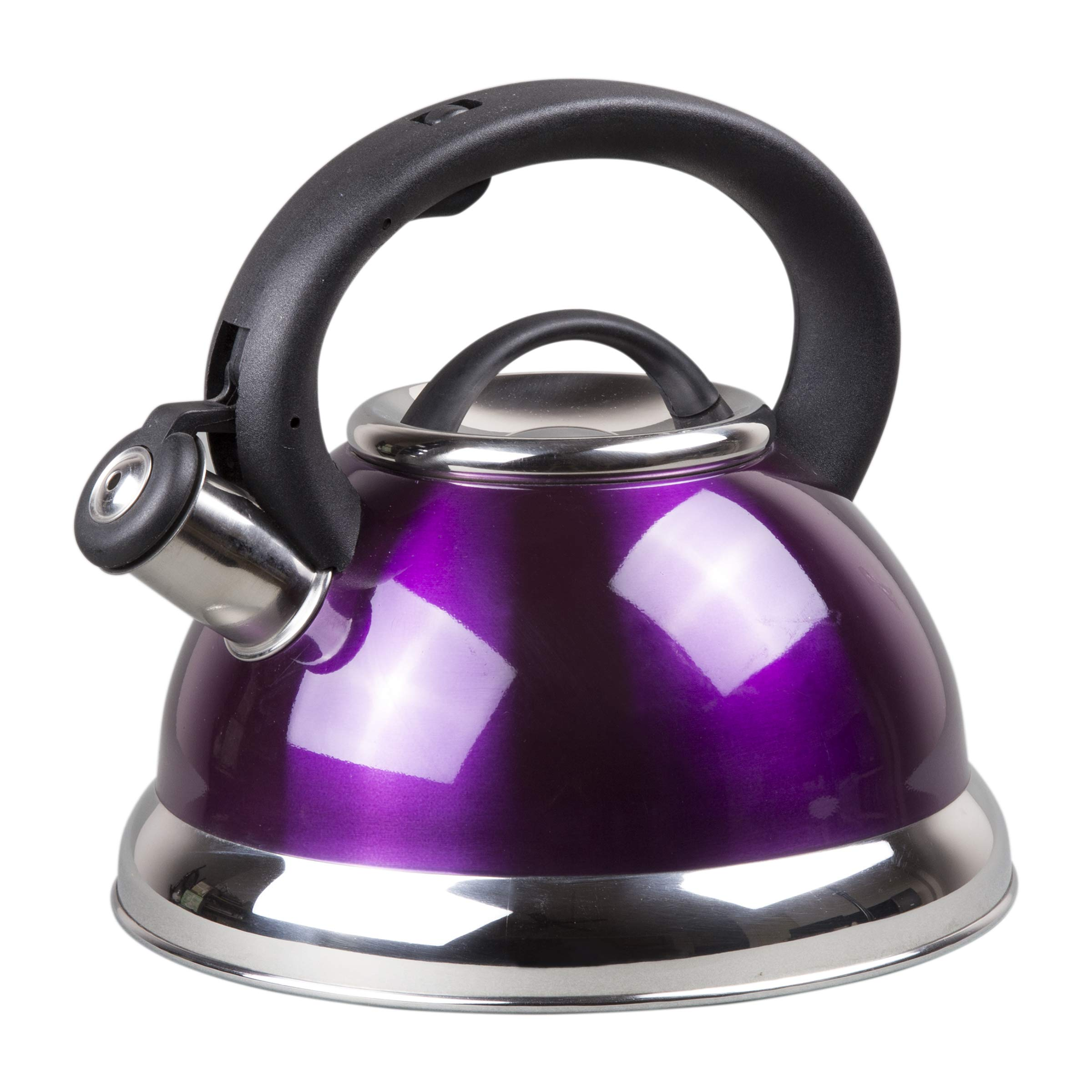 Creative Home Alexa Stainless Steel Whistling Tea Kettle, Purple, 3.0 Quart by Creative Home