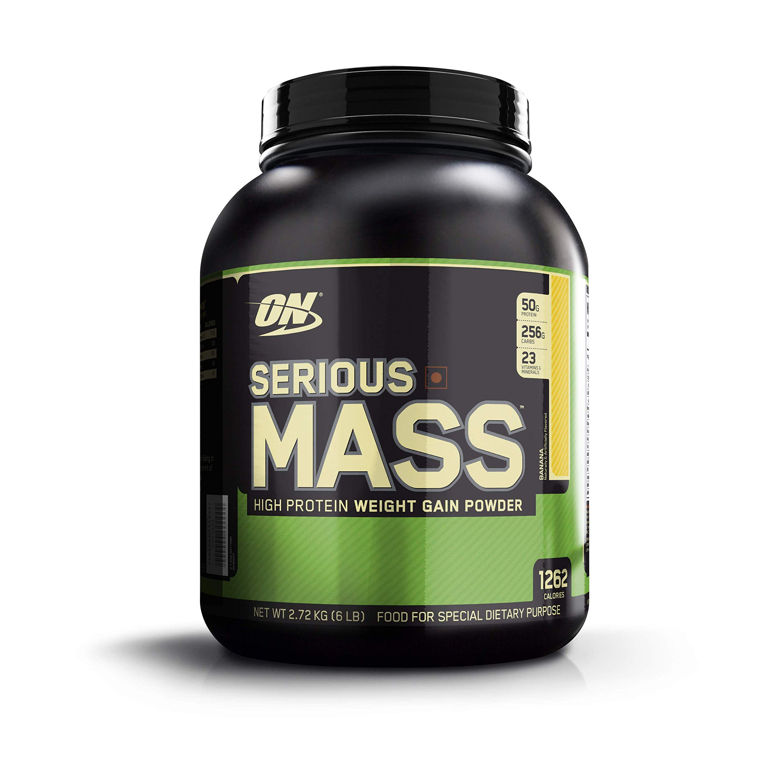 Optimum Nutrition Serious Mass High Calorie Weight Gain/Muscle Gain Protein Powder, 6 Pound