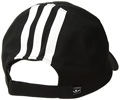 bb08536a Amazon.com: adidas Women's Originals Trainer II Relaxed Cap, Black/White, One  Size: Clothing