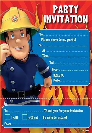 Amazoncom Fireman Sam Invites Party Invitations Automotive