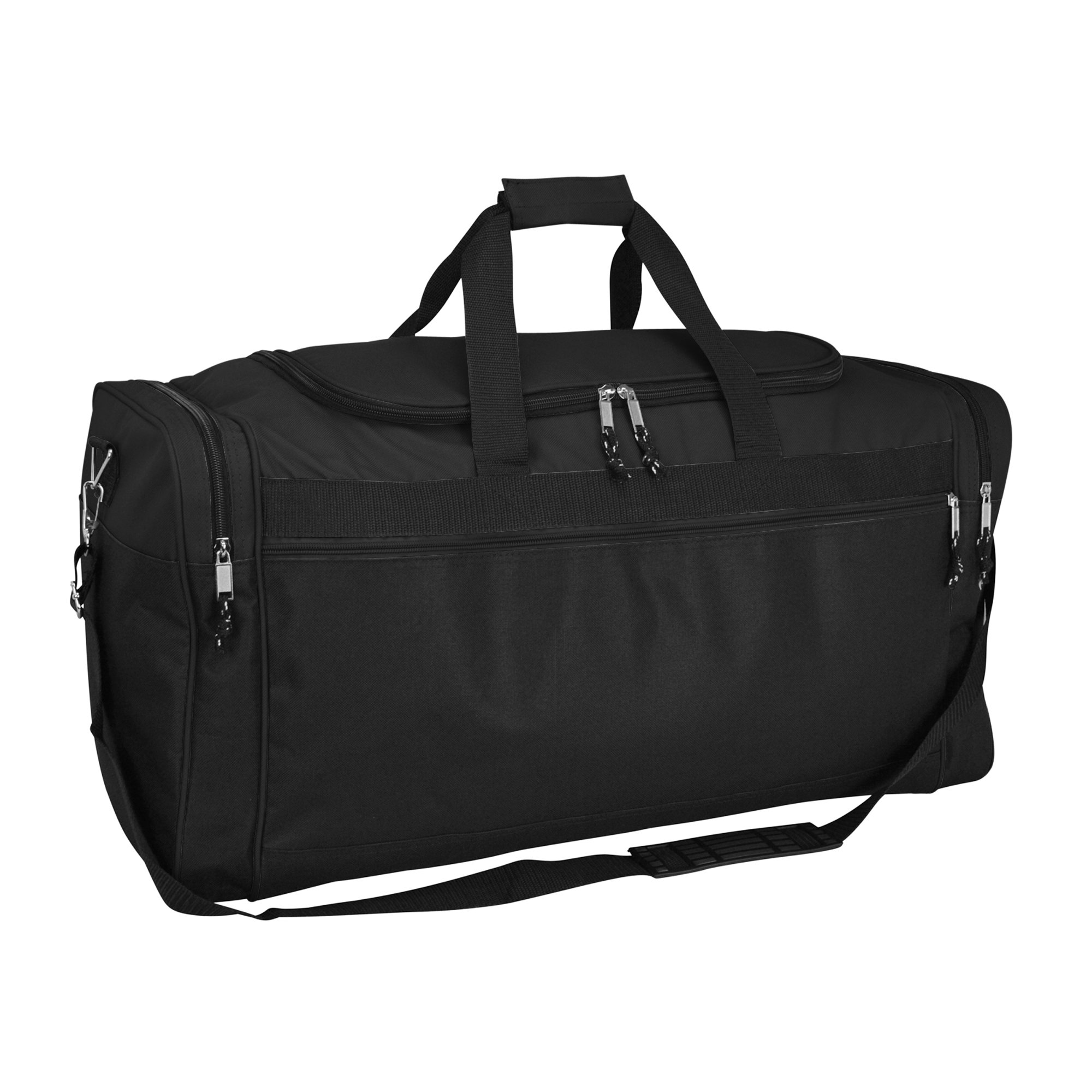 DALIX 25'' Extra Large Vacation Travel Duffle Bag in Black