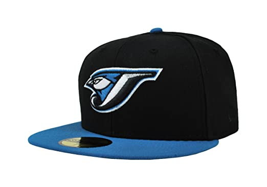 New Era 59Fifty Hat MLB Toronto Blue Jays Black Cardinal Blue Fitted Cap (6 f23dc0bffd1