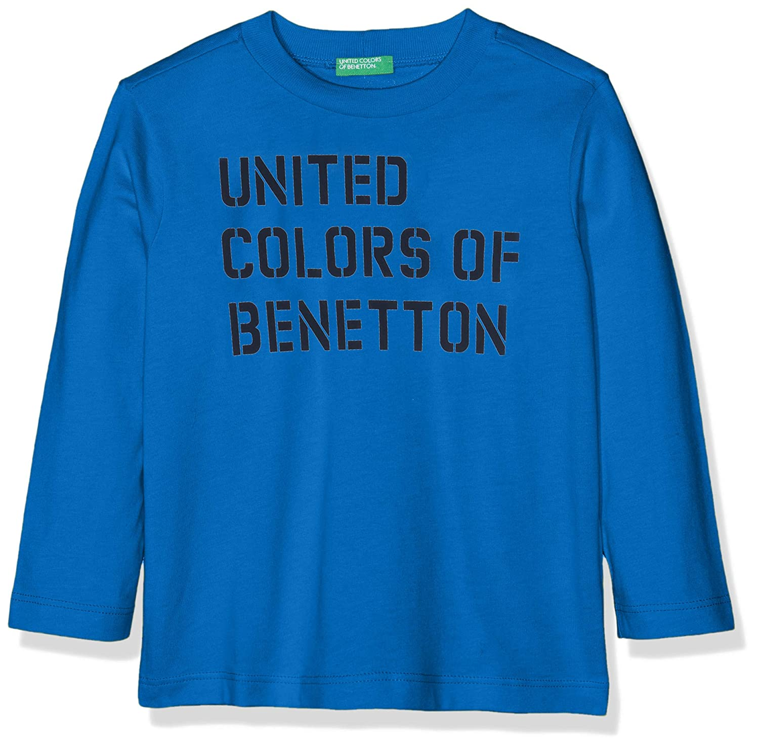 United Colors of Benetton T-Shirt L/s Camiseta de Tirantes, Azul ...