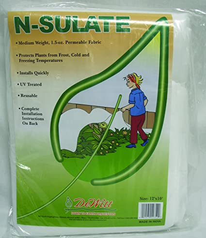 81c094606c Amazon.com : De Witt NS12 Fabric N Sulate Plant Protection, 10-Feet,  1.5-Ounce : Weed Barrier Fabric : Garden & Outdoor