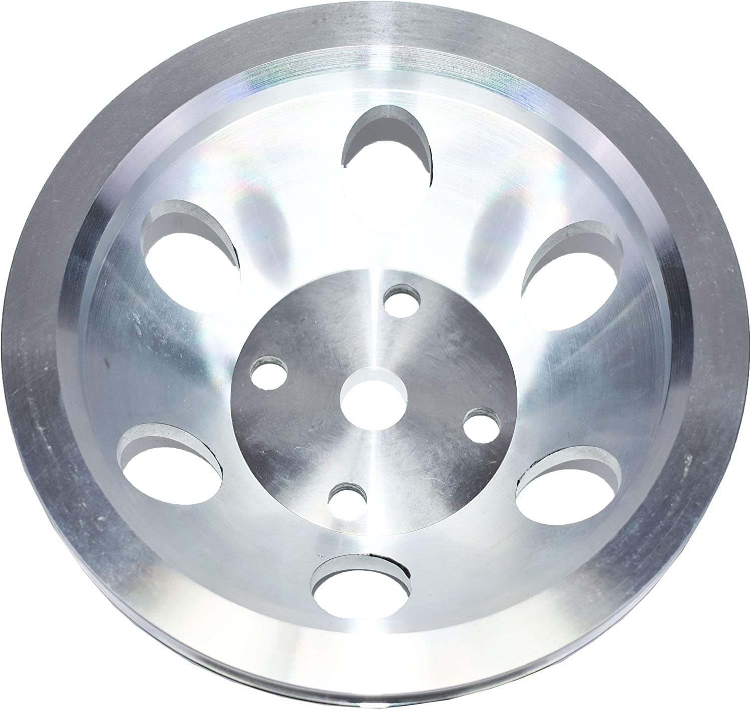 A-Team Performance Single-Groove Aluminum Long Water Pump Pulley Compatible With Small Block Chevrolet 262 302 400