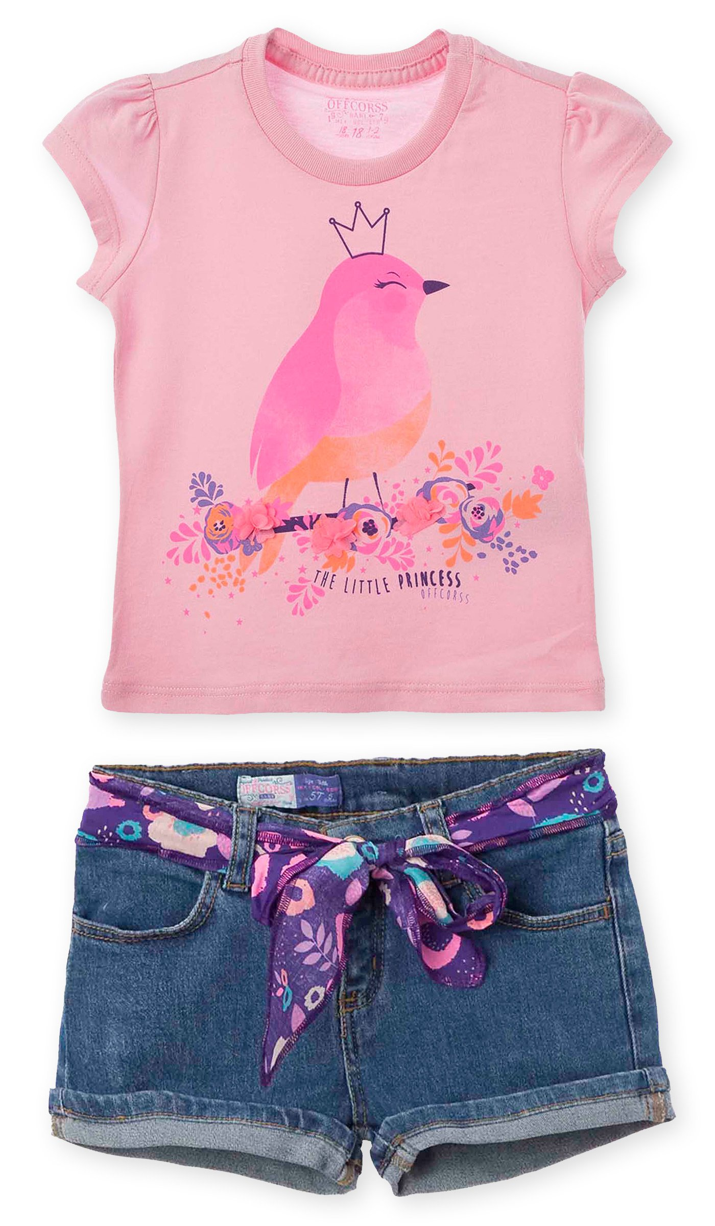 OFFCORSS Spring Summer Cute Twin Sister Matching Outfit Set for Toddler Girl Baby Photography Photoshoot Short T Shirt Conjunto de Niñas Pink 3T
