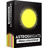 "Astrobrights Mega Collection, Colored Paper,""Flourescent"" 5-Color Assortment, 625 Sheets, 24 lb/89 gsm, 8.5"" x 11…"