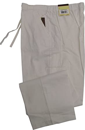 Havanera Mens Relaxed Fit Drawstring Linen Rayon Blend Pants ...