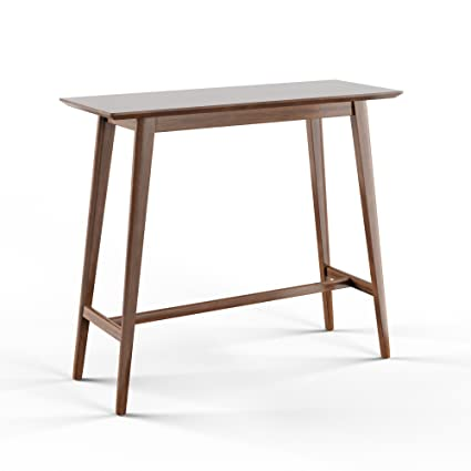 Incroyable Amazon.com: Mid Century Modern Rectangular Wood Bar Table (Brown): Kitchen  U0026 Dining
