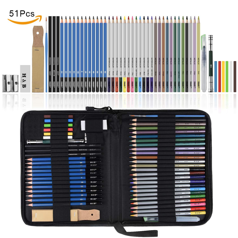 set de lápices para dibujo