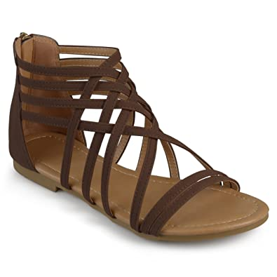 Journee Flat Collection Gladiator Womens Sandals wvm80nNO