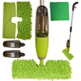 Malka 2 in 1 Microfibre Spray Mop with 2X 600ml Bottles, 2X Reusable Washable Microfibre Mop Heads - Clean with Ease - Hardwood, Tile, Laminate, Wood, Carpet, and All Floors and Glass Windows