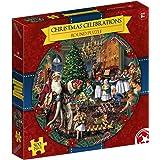 Christmas Celebrations 500 Piece Round Waddingtons Jigsaw Puzzle