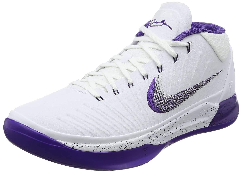 Nike Men's Kobe AD EP, WHITE/COURT PURPLE-BLACK B0763R813Q 10.5 D(M) US White/Court Purple-black