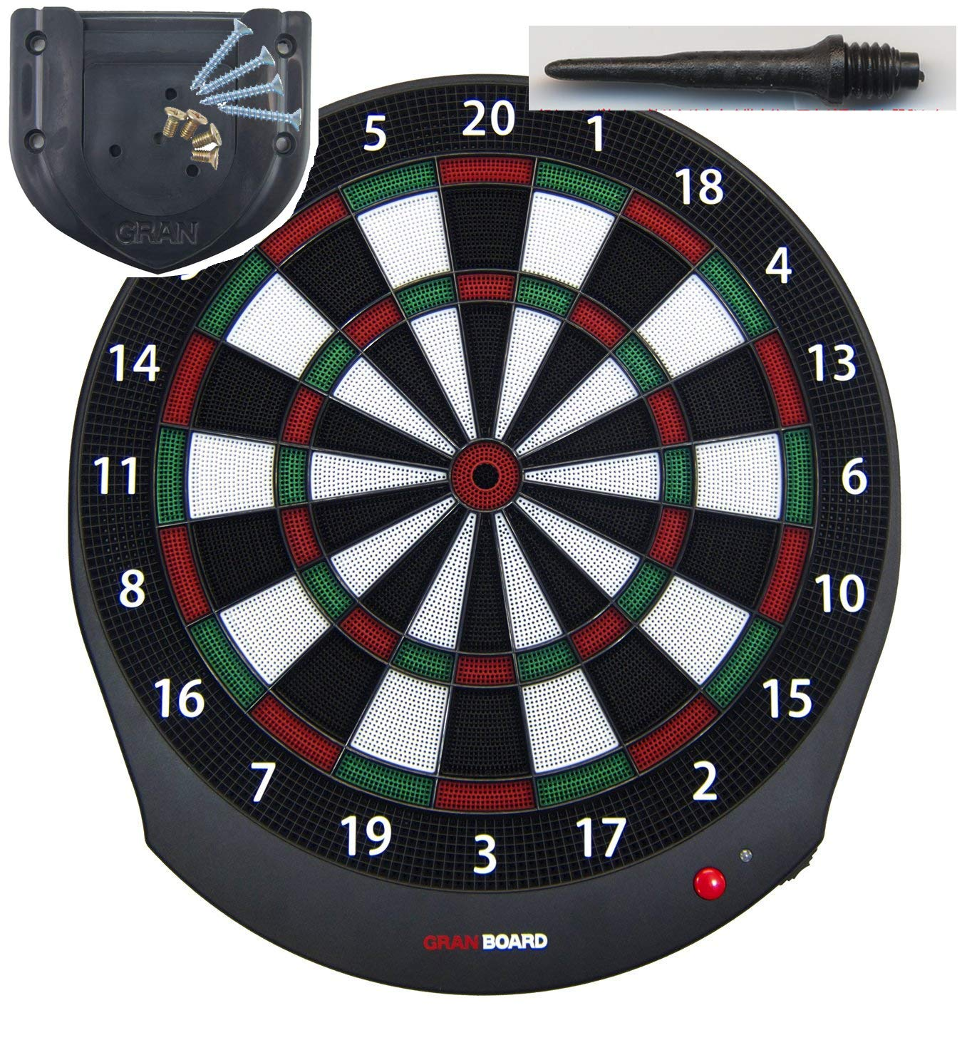 Gran Board Dash Bluetooth Dartboard Green with Special Bracket & ChoukouTip50pics