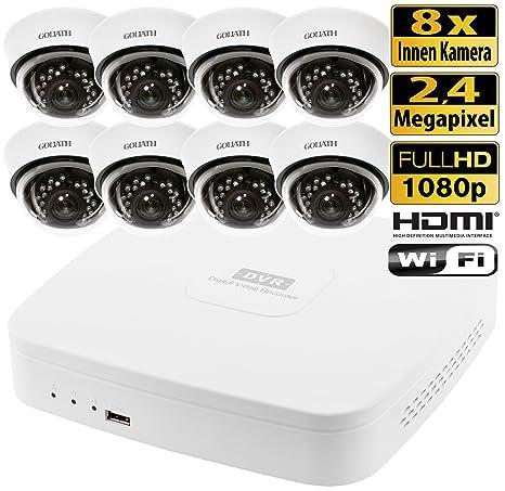 HDCVI Videovigilancia Juego 8 canales DVR 8 Interior cámaras de vigilancia 2,4 Mega Pixeles