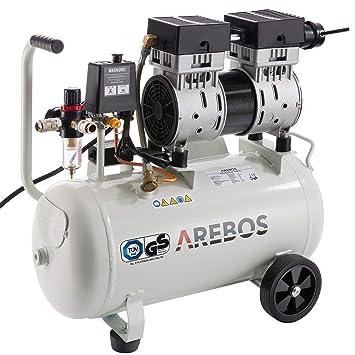 Arebos - Compresor (24 L, 800 W, sin aceite, 54,5 dB/GS): Amazon.es: Bricolaje y herramientas