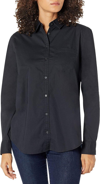 Amazon Essentials Women's Classic-Fit Long Sleeve Button Down Poplin Shirt